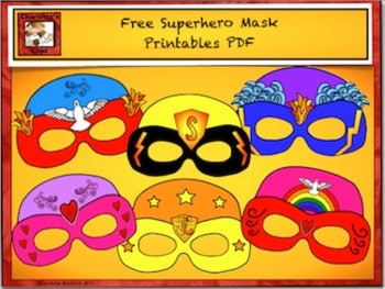 Free Superhero Masks for Summer Party