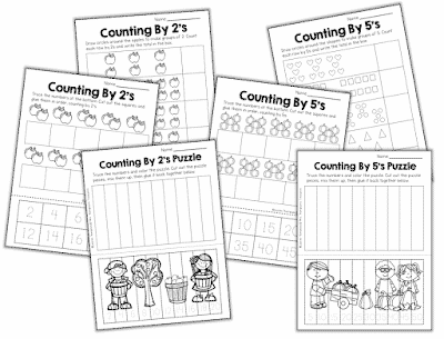 Free Skip Counting Worksheets