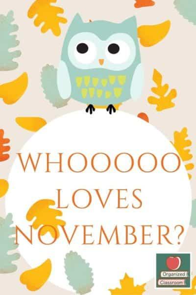 WHOOOOO Loves November?