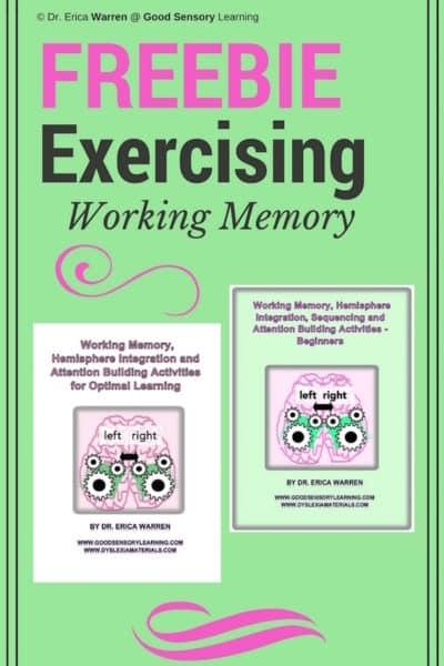 Exercising Working Memory Freebie