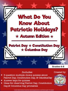 What Do You Know? Patriot Day, Constitution Day, and Columbus Day