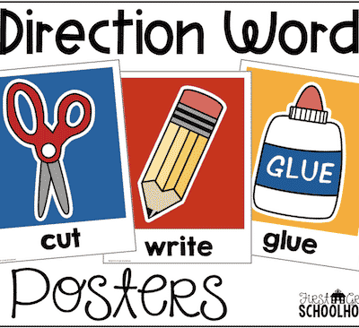 Direction Word Posters