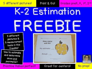 Estimation Math Center FREEBIE