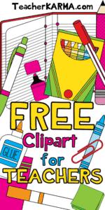 FREE: School Supplies Clipart