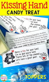 Love The Kissing Hand? FREE Treat Bag Topper to Welcome Your Students Back to School