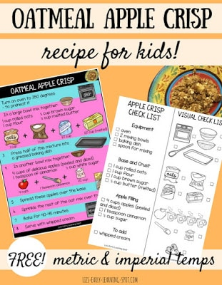Oatmeal Apple Crisp Recipe for Kids