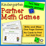 Write-and-Wipe Partner Math Games