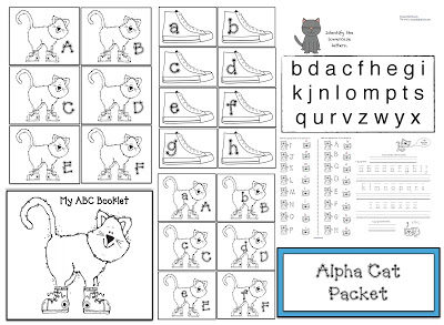 "Pete the Cat Inspired ""Alpha-Cat"" activities"