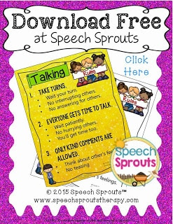 FREE POSTER. Do you have children who need extra time to formulate their thoughts in the classroom? Support them with a few simple rules that will help all students be included in classroom discussions. www.speechsproutstherapy.com