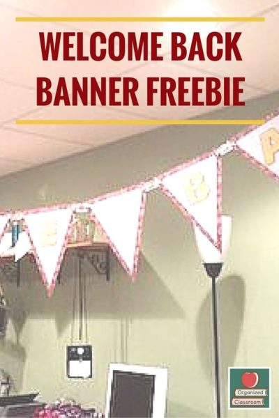 Welcome Back Banner Freebie!