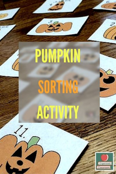 Pumpkin Sorting Activity