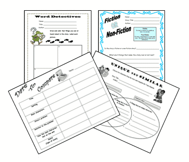 Literacy Worksheets for ANY Picture Book