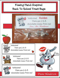 Kissing Hand-Inspired Back To School Treat Bags