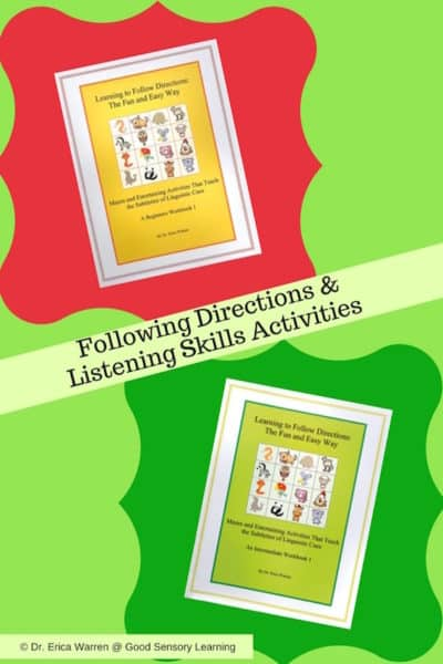 Following Directions and Listening Skills Activities Freebie