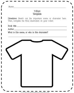 Design a T-Shirt Reading Response Project