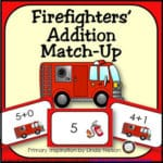 Firefighters' Addition Matching Cards