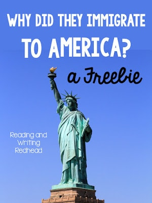 Reading and Writing Redhead's Immigration Freebie