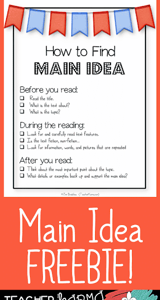 Main Idea: Before, During & After READING