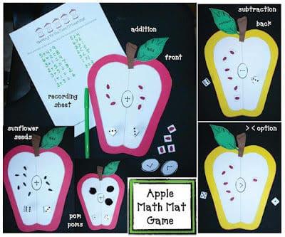Apple Math Mat Game