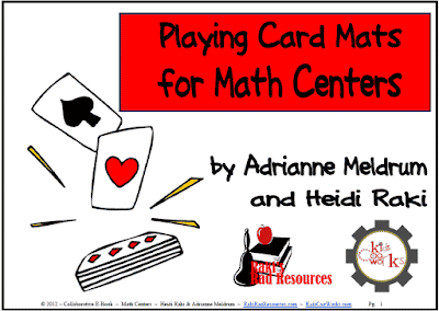 Free playing card mats for your math centers from Raki's Rad Resources.
