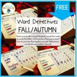Sea of Knowledge's Free Fall Vocabulary Word Search with a Twist