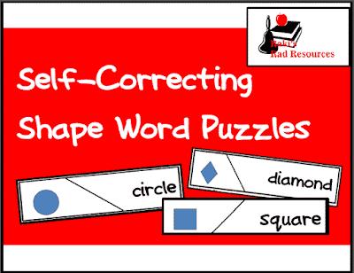 Shape Words Self Correcting Puzzle