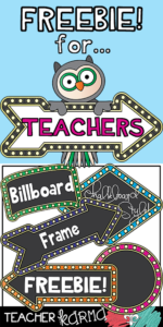 FREE Billboard Frames & Teacher Graphics