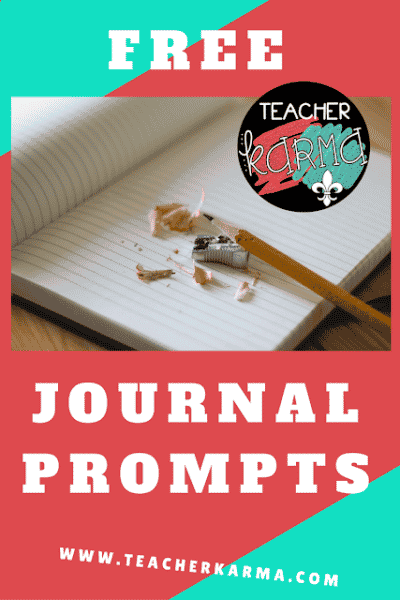 FREE Journal Writing Prompts