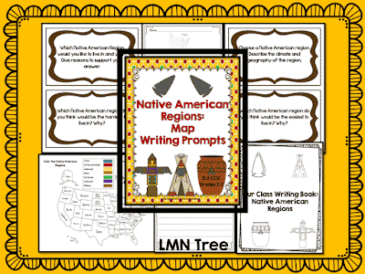 Celebrate Native American Heritage Month with a Native American Regions Map and Writing Prompts