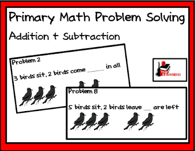 Free problem solving picture cards for primary students from Raki's Rad Resources.