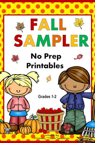 Fall Math & Literacy No Prep Printables!