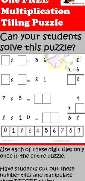Free Multiplication Puzzle