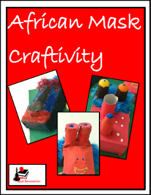 Free African masks craftivity form from Raki's Rad Resources.