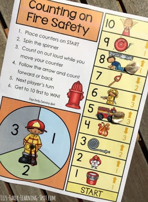 Fire Safety-Themed Counting On Board Game