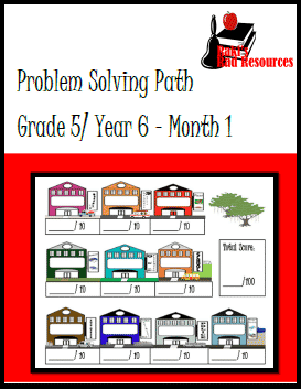 Free 5th grade problem solving journal with real life problems - from Raki's Rad Resources.