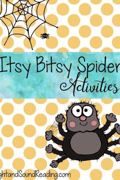 Itsy Bitsy Spider Activities – Free Printable –