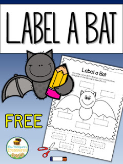 Free Label a Bat Activity