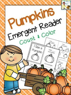 Free Pumpkin Counting Emergent Reader