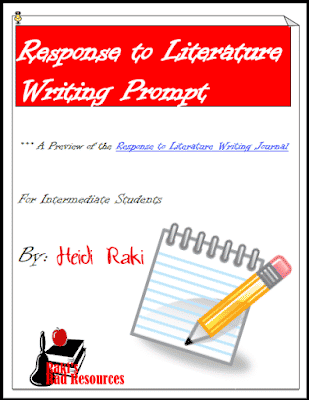 Free response to literature writing prompt from Raki's Rad Resources.