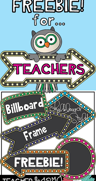 Clipart FREEBIE for Teachers – Chalkboard – Billboard Style