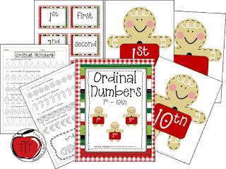 https://www.teacherspayteachers.com/Product/FREE-Christmas-Ordinal-Numbers-Activities-170964
