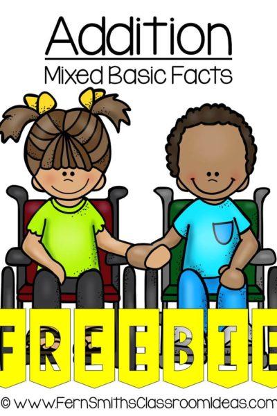 Fern Smith's FREE Mixed Addition Basic Center