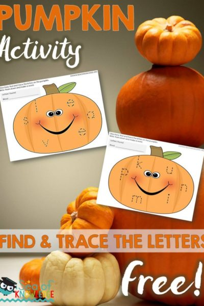Sea of Knowledge's Free Pumpkin Find & Trace the Letters