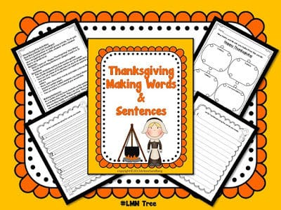 Happy Thanksgiving Making Words and Sentneces