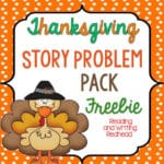 Story Problems with a Thanksgiving Theme