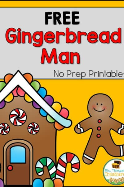 Free Gingerbread Man Emergent Reader & More