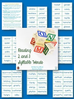 Teaching the Six Syllable Types