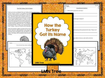 """How the Turkey Got Its Name"" Reading Text and Activities Packet"