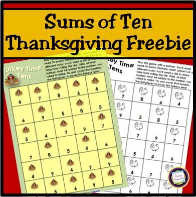 Sums of Ten – Turkey Time!