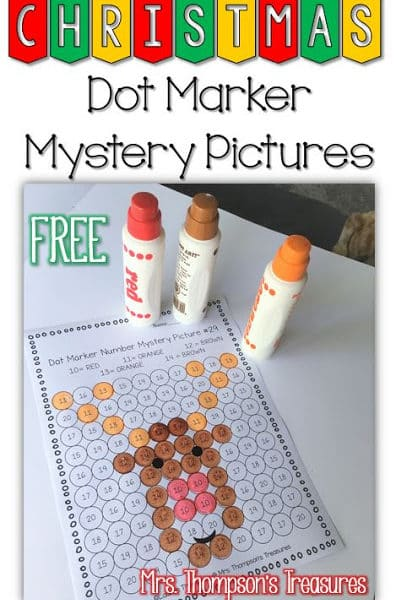 Free Christmas Mystery Pictures – Sight Words/Letters/Numbers